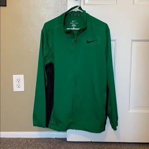 Green Zip Hoodie Dri Fit Jacket